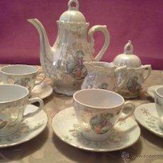 Antigüedades: JUEGO DE CAFÉ-TE DE PORCELANA JAPONESA. Lote 39806409