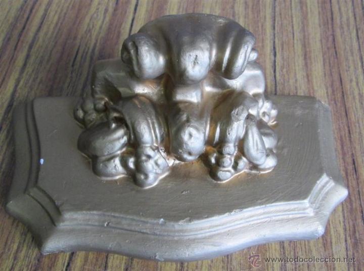 Antigüedades: PEANA PARED de escayola - Foto 4 - 39925324