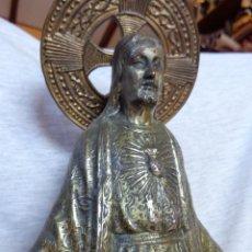 Antigüedades: BELLÍSIMA IMAGEN RELIGIOSA SAGRADO CORAZÓN DE JESÚS ANTIGUO. Lote 39932553