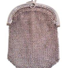 Antigüedades: BOLSITO DE MALLA PLATA - MEDIDAS 6,5 CM POR 9,5 CM. Lote 39935521