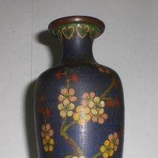 Antigüedades: ANTIGUO JARRON CHINO. CLOISONNE CON ESMALTES. CEREZOS EN FLOR.. Lote 39939992