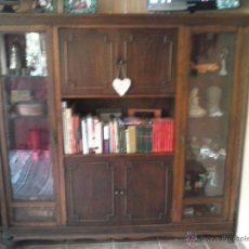 Antigüedades: VITRINA ,MUEBLE ANTIGUO ,CASTAÑO. Lote 39951972