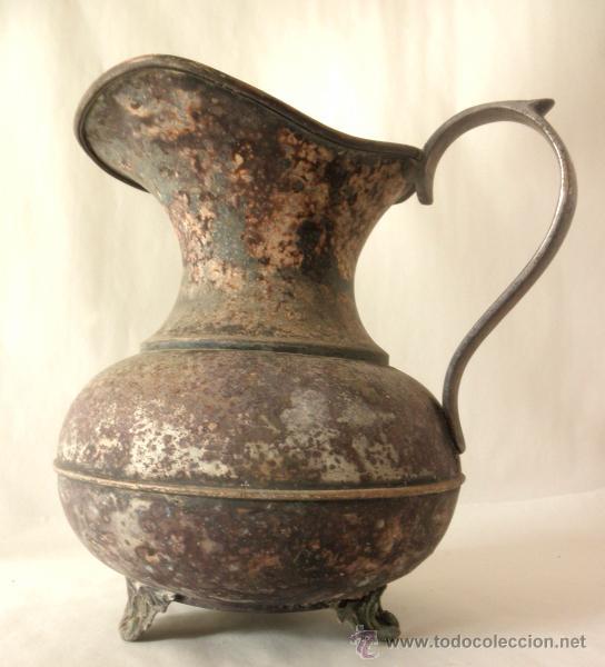 Antigüedades: ANTIGUA JARRA RUSTICA METAL - Foto 2 - 39956932