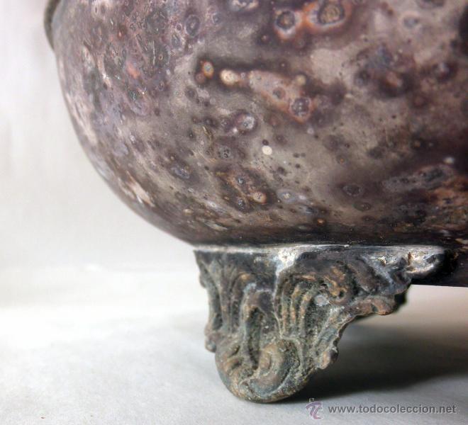 Antigüedades: ANTIGUA JARRA RUSTICA METAL - Foto 3 - 39956932