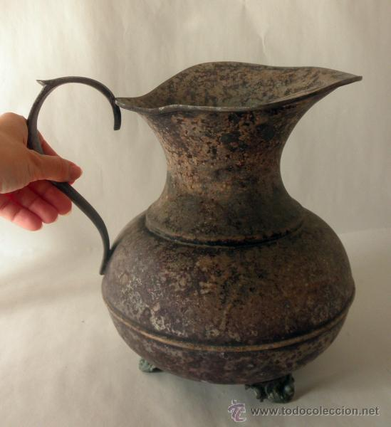 Antigüedades: ANTIGUA JARRA RUSTICA METAL - Foto 7 - 39956932