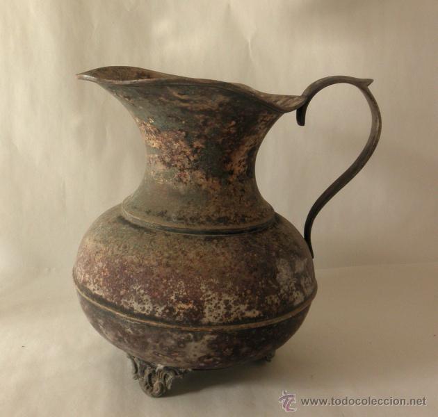 Antigüedades: ANTIGUA JARRA RUSTICA METAL - Foto 9 - 39956932