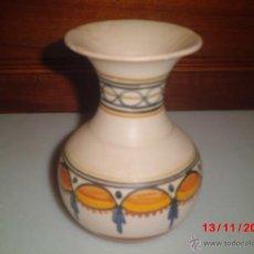 Antigüedades: JARRON DE CERAMICA PINTADO A MANO DE TALAVERA. Lote 39958886