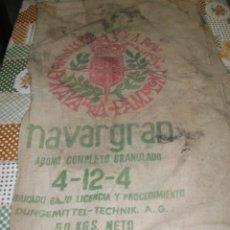 Antigüedades: NAVARRA GRAN ANTIGUO SACO DE ABONO. Lote 39961015