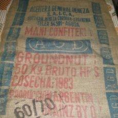 Antigüedades: ACEITERA GENERAL DEHEZA. ANTIGUO SACO DE MANI PARA CONFITERIA. ARGENTINA.. Lote 39961094