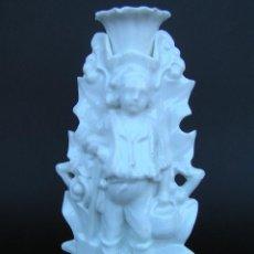 Antigüedades: CANDELABRO ISABELINO , PORCELANA BLANC DE CHINE. S. XIX. ESPECTACULAR. Lote 39967819