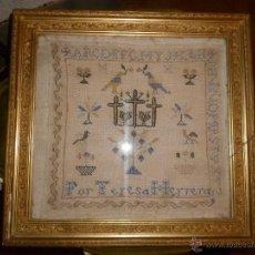 Antigüedades: CUADRO PUNTO DE CRUZ SIGLO XIX. Lote 39971650