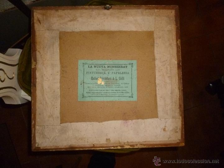 Antigüedades: CUADRO PUNTO DE CRUZ SIGLO XIX - Foto 2 - 39971650