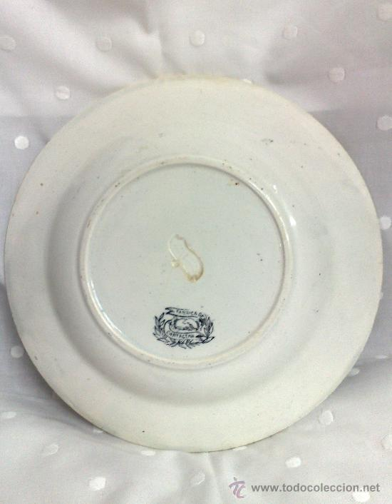 Antigüedades: SIGLO XIX.-PLATO EN LOZA, FABRICA DE LA AMISTAD. - Foto 11 - 29727874