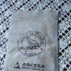 Antigüedades: SAQUITO DE ARROZ DE 1/2 KG. -DE TELA-. Lote 39978866