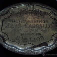 Antigüedades: (PU-71)BANDEJA DE EL GLOBO DE LUIS CARBALLO,ULTRAMARINOS(BADAJOZ). Lote 39998935