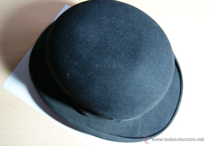 SOMBRERO BORSALINO DE HONGO ANTIGUO O BOMBIN (Antigüedades - Moda - Sombreros Antiguos)