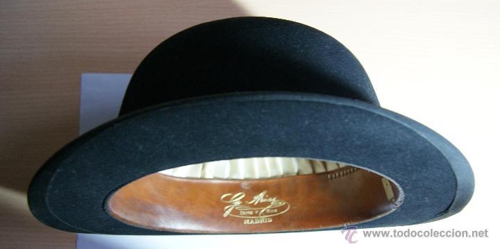 Antigüedades: Sombrero Borsalino de Hongo Antiguo o Bombin - Foto 2 - 40000404
