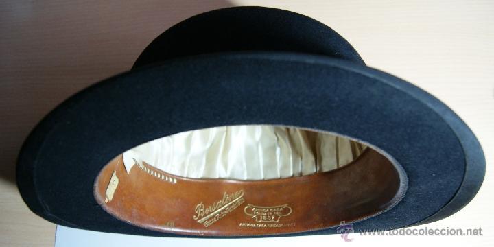 Antigüedades: Sombrero Borsalino de Hongo Antiguo o Bombin - Foto 3 - 40000404