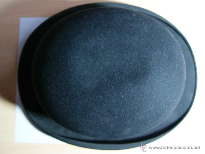Antigüedades: Sombrero Borsalino de Hongo Antiguo o Bombin - Foto 4 - 40000404