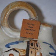 Antigüedades: UNICO Y ORIGINAL BOTIJO MODELO SANT ANDREU DE LA BARCA PINTADO A MANO. Lote 40144625