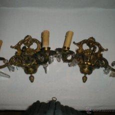 Antigüedades: PAREJA DE MAGNIFICOS APLIQUES. Lote 40002212