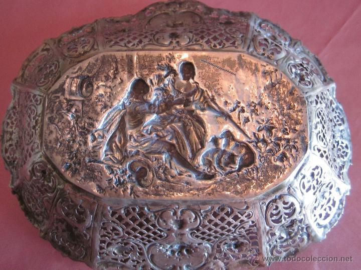Antigüedades: BANDEJA DE PLATA DE LEY 916 - Foto 2 - 40016963