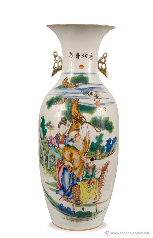 JARRON CHINO SIGLO XIX-XX (Antigüedades - Porcelanas y Cerámicas - China)