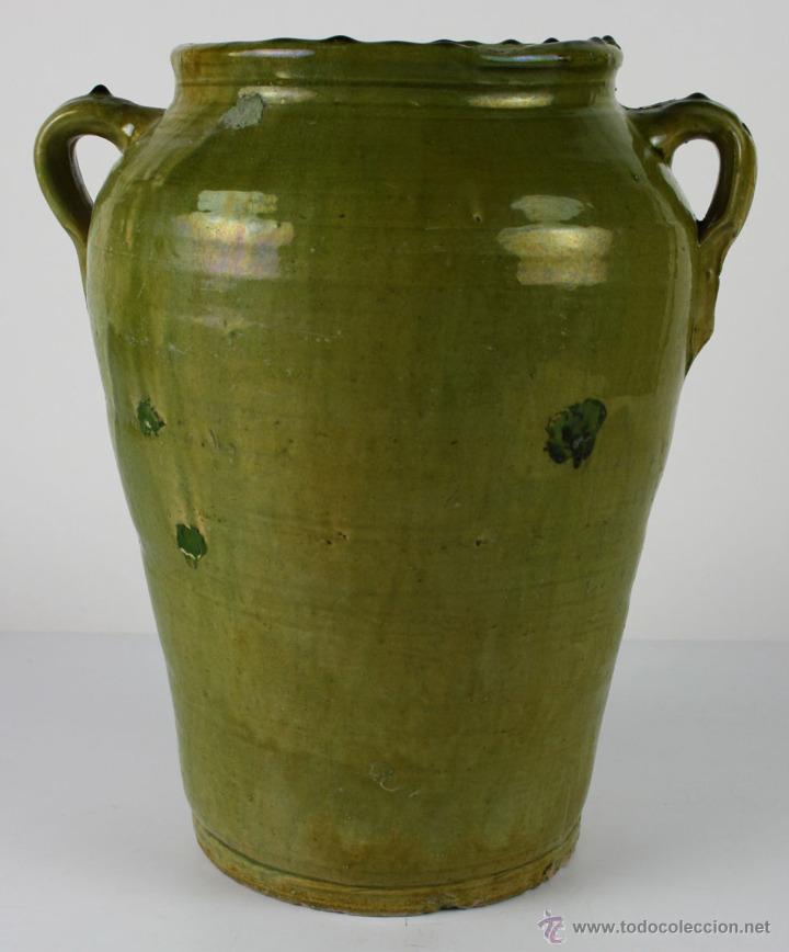 JARRÓN EN CERÁMICA VIDRIADA DE CATALUÑA - SIGLO XIX (Antigüedades - Porcelanas y Cerámicas - Catalana)