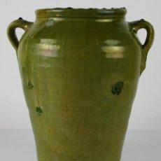 Antigüedades - JARRÓN EN CERÁMICA VIDRIADA DE CATALUÑA - SIGLO XIX - 40023523