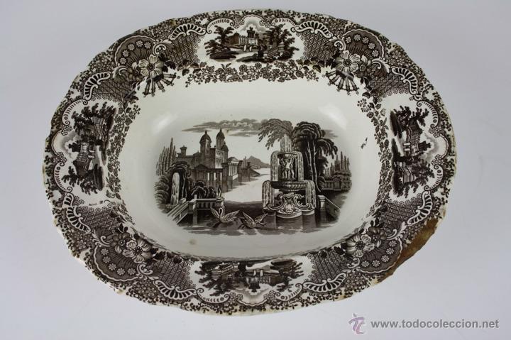 FUENTE DE LOZA DE PICKMAN Y CIA SEMI CHINA - SIGLO XIX (Antigüedades - Porcelanas y Cerámicas - La Cartuja Pickman)