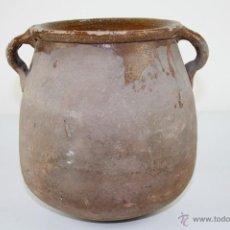 Antigüedades: OLLA POPULAR EN BARRO COCIDO Y ESMALTADA EN SU INTERIOR - SIGLO XIX. Lote 40026391