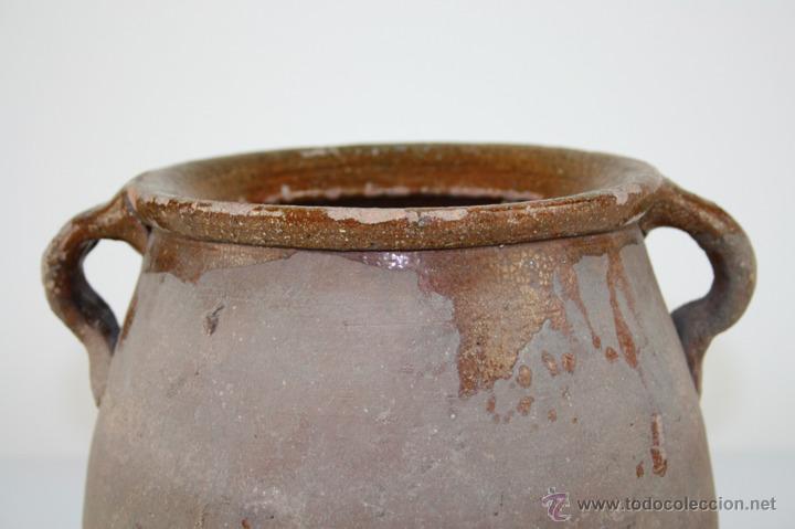 Antigüedades: OLLA POPULAR EN BARRO COCIDO Y ESMALTADA EN SU INTERIOR - SIGLO XIX - Foto 2 - 40026391