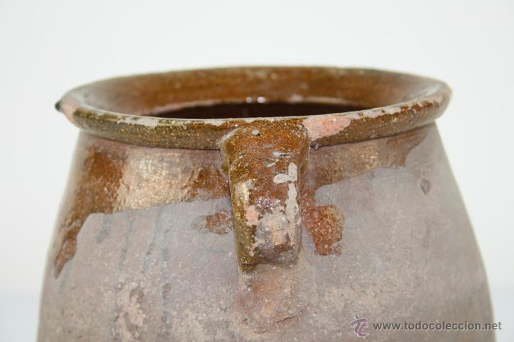 Antigüedades: OLLA POPULAR EN BARRO COCIDO Y ESMALTADA EN SU INTERIOR - SIGLO XIX - Foto 4 - 40026391