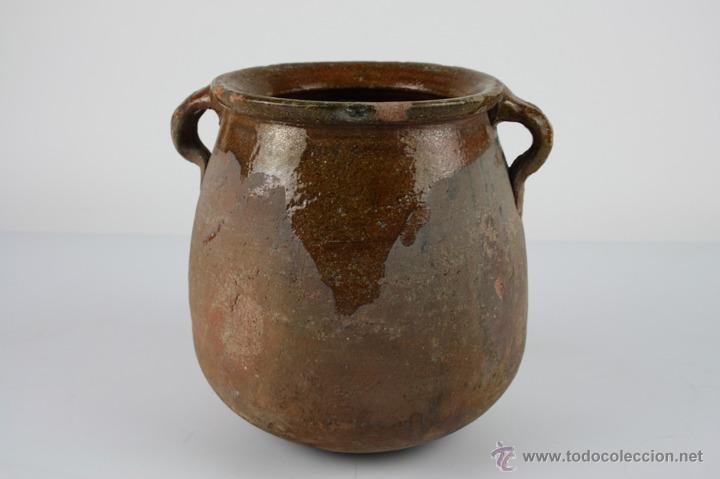Antigüedades: OLLA POPULAR EN BARRO COCIDO Y ESMALTADA EN SU INTERIOR - SIGLO XIX - Foto 5 - 40026391