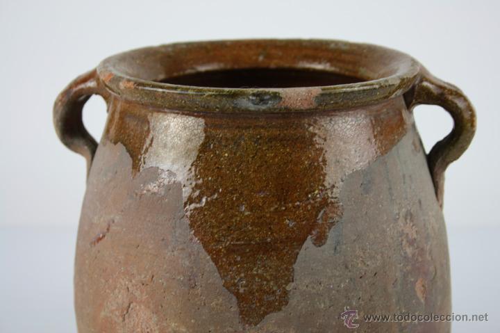 Antigüedades: OLLA POPULAR EN BARRO COCIDO Y ESMALTADA EN SU INTERIOR - SIGLO XIX - Foto 6 - 40026391