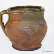Antigüedades: JARRONCITO POPULAR EN BARRO COCIDO Y ESMALTADO - SIGLO XIX. Lote 40028561