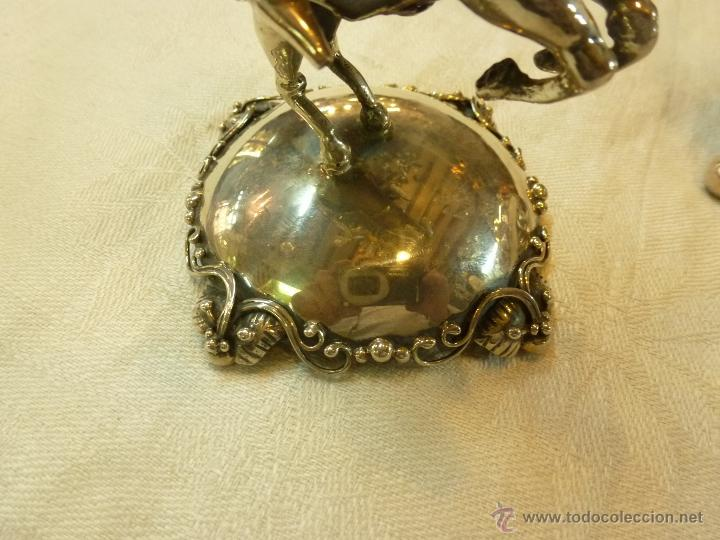Antigüedades: caja con caballero en plata - Foto 3 - 40031419