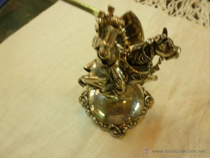 Antigüedades: caja con caballero en plata - Foto 7 - 40031419
