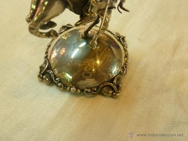 Antigüedades: caja con caballero en plata - Foto 10 - 40031419