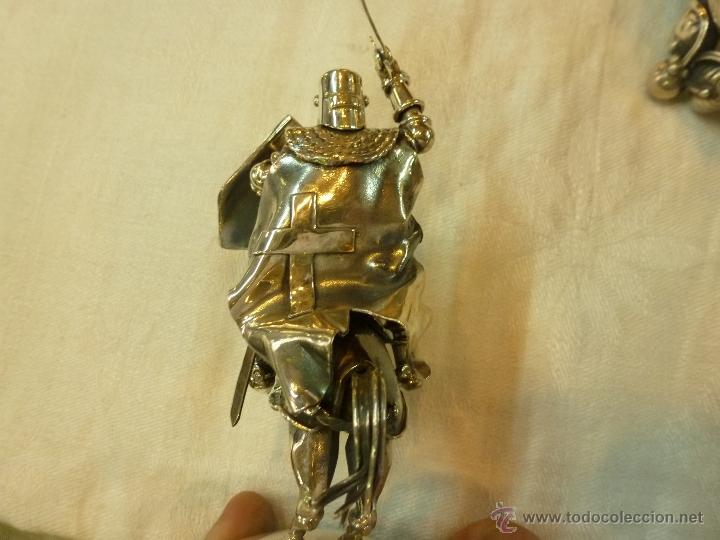Antigüedades: caja con caballero en plata - Foto 11 - 40031419