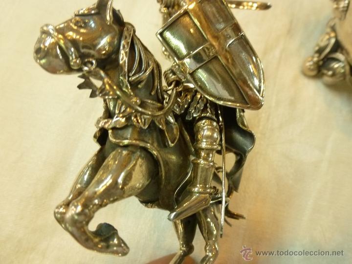 Antigüedades: caja con caballero en plata - Foto 13 - 40031419