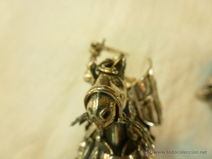 Antigüedades: caja con caballero en plata - Foto 14 - 40031419