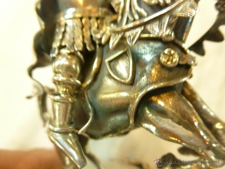 Antigüedades: caja con caballero en plata - Foto 15 - 40031419