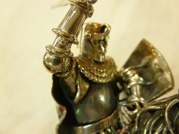 Antigüedades: caja con caballero en plata - Foto 16 - 40031419