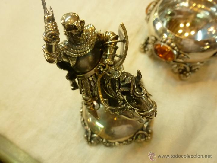 Antigüedades: caja con caballero en plata - Foto 17 - 40031419