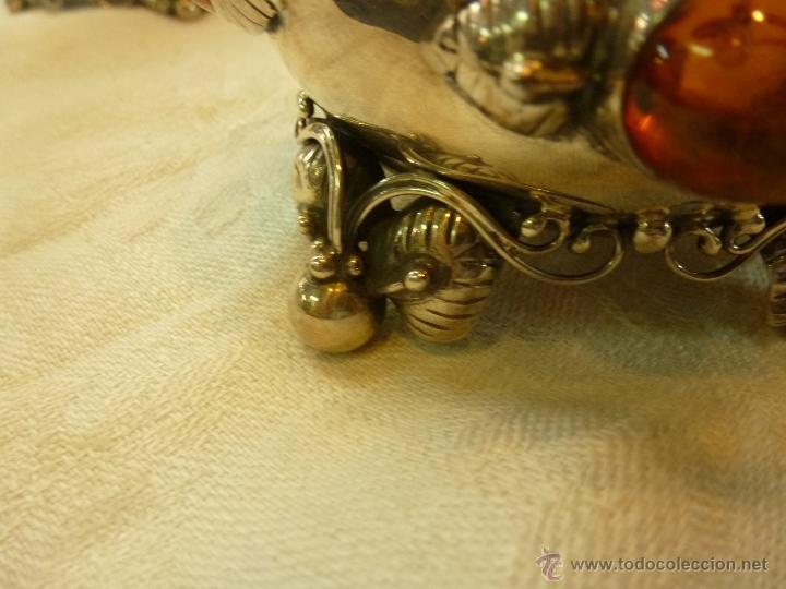 Antigüedades: caja con caballero en plata - Foto 22 - 40031419