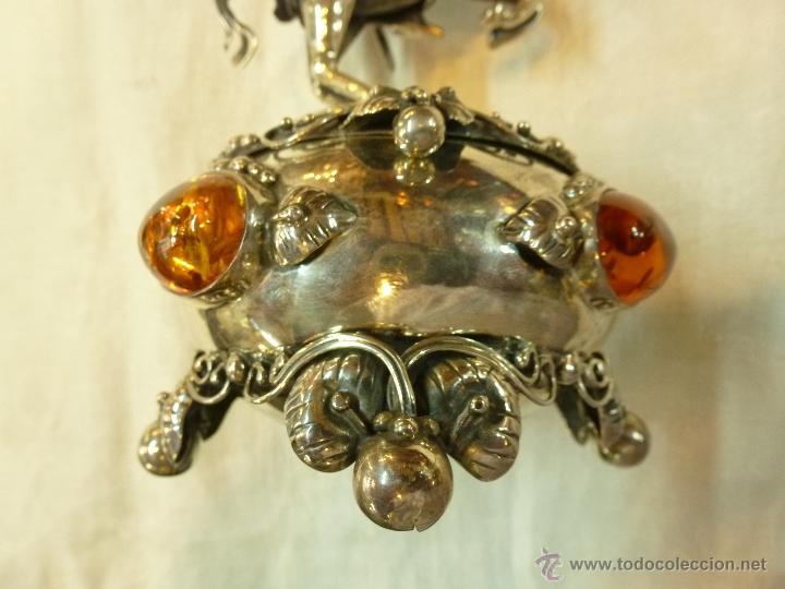 Antigüedades: caja con caballero en plata - Foto 26 - 40031419