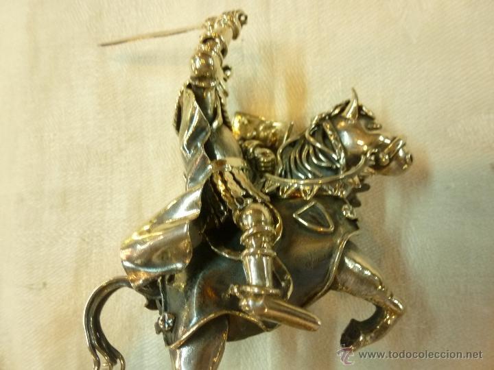 Antigüedades: caja con caballero en plata - Foto 27 - 40031419