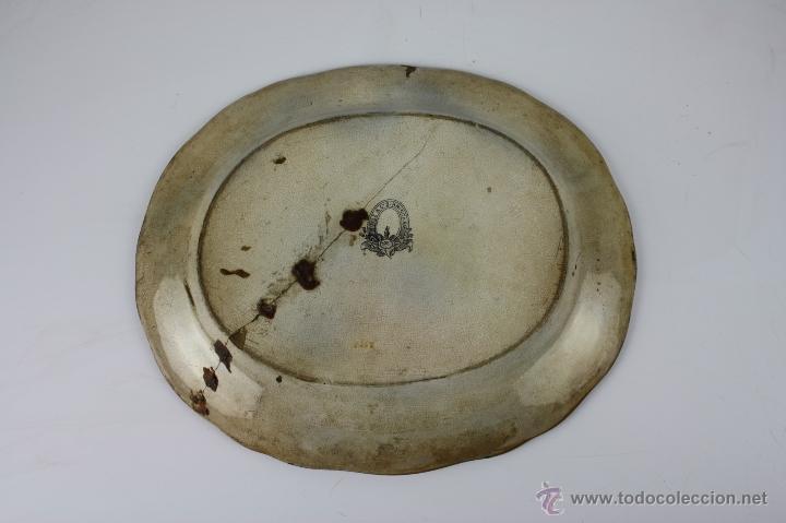Antigüedades: EXCEPCIONAL BANDEJA EN LOZA POLICROMADA A MANO, 1ª MITAD S. XIX, BOYLE Cº , BIRMINGHAM - Foto 2 - 40044809