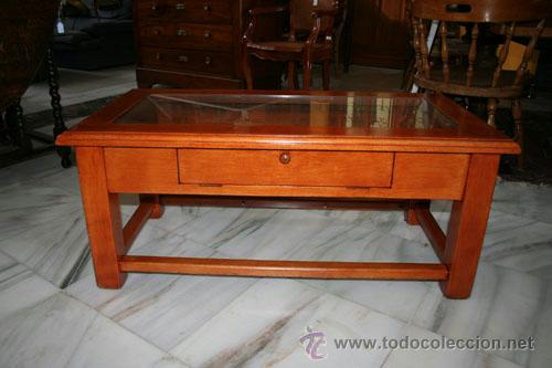 MESA DE CENTRO,ROBLE REF.5572 (Antigüedades - Muebles Antiguos - Mesas Antiguas)